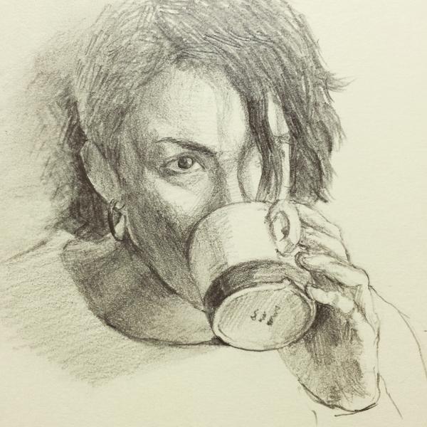 お好きな写真、デッサン風に鉛筆イラスト描きます お好きな人物の写真を鉛筆デッサンします。