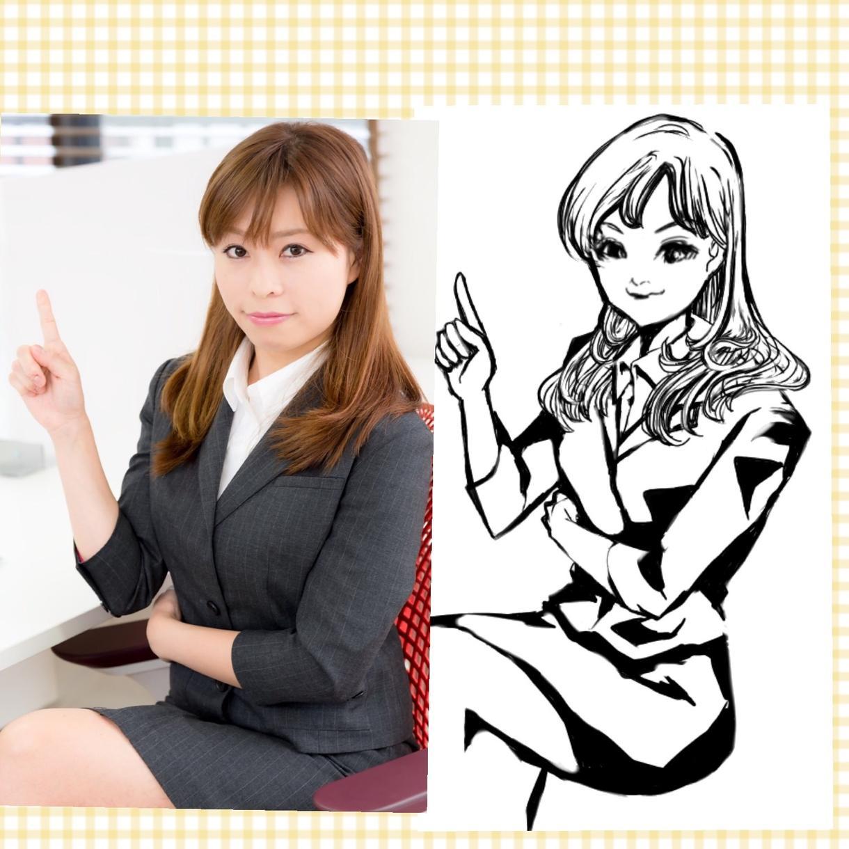 あなたの似顔絵を漫画風に描きます SNSのアイコンなどにどうぞ!!