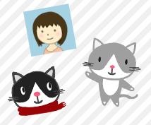 人や動物を、TwitterやFacebookに使えるようなイラストにします