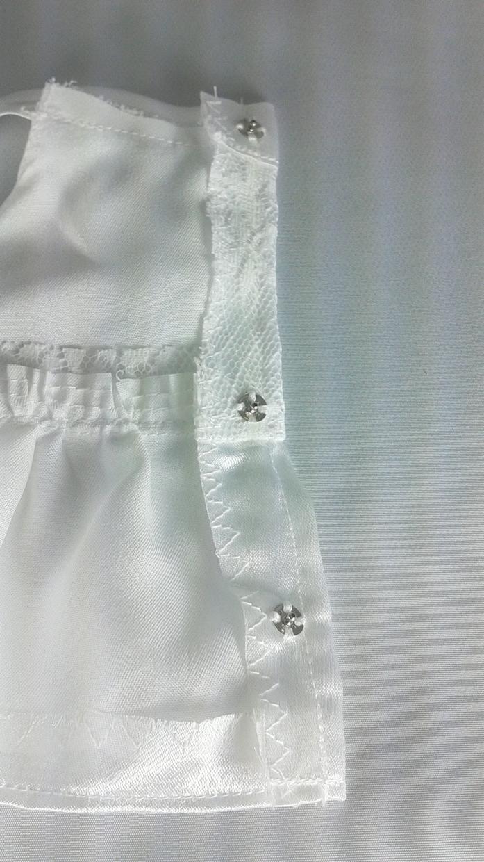 手作り ぬいぐるみ服(白レース)販売します うさぎのぬいぐるみ サンアロー ラッキーM