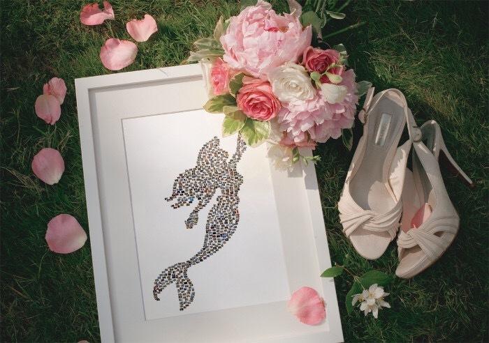 結婚式などに★数百枚の写真を1つにおまとめします 撮りためている写真でイベント用のコラージュを作ってみませんか