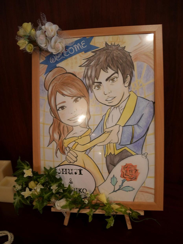 似顔絵描かせて頂きます 結婚式、または記念に飾りたい似顔絵、お任せ下さい(*^^*)