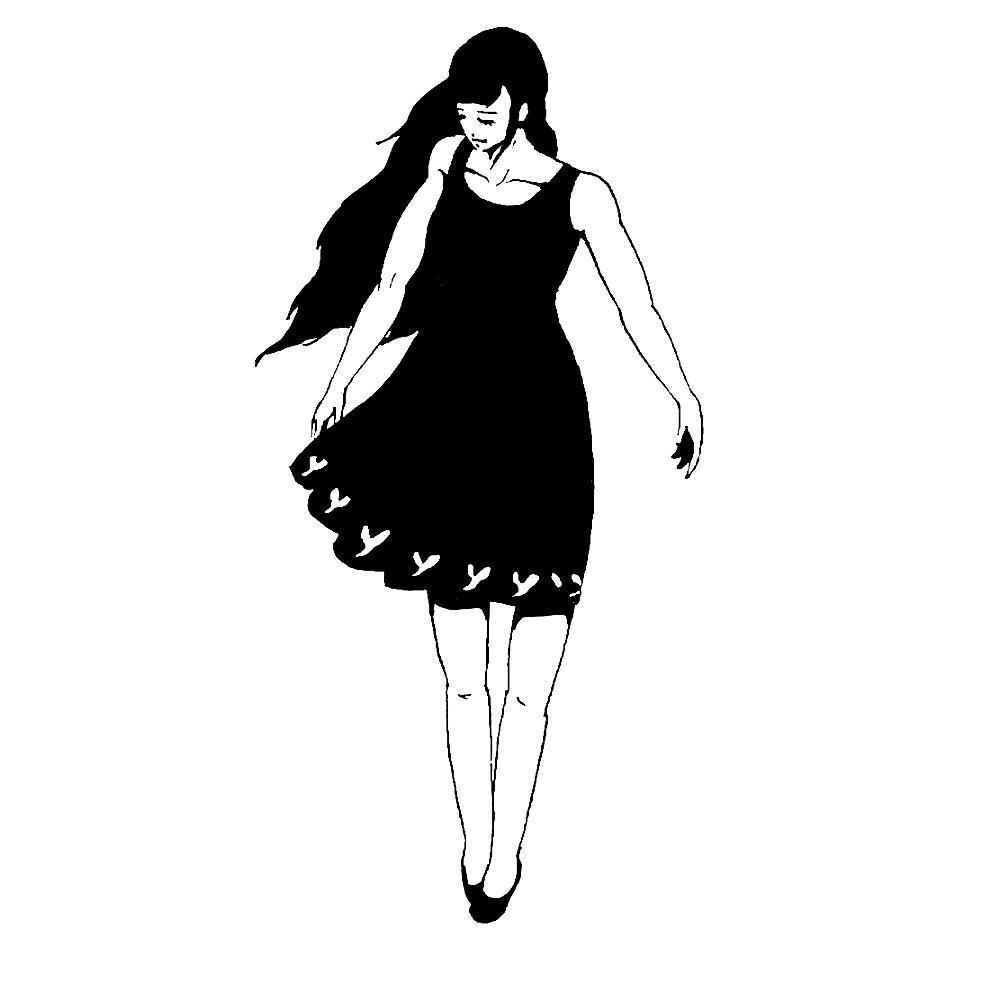 白黒ペン画でカッコいい絵を描きます 修正無料で無制限!プレゼントやインテリア、挿絵や名刺、ロゴに