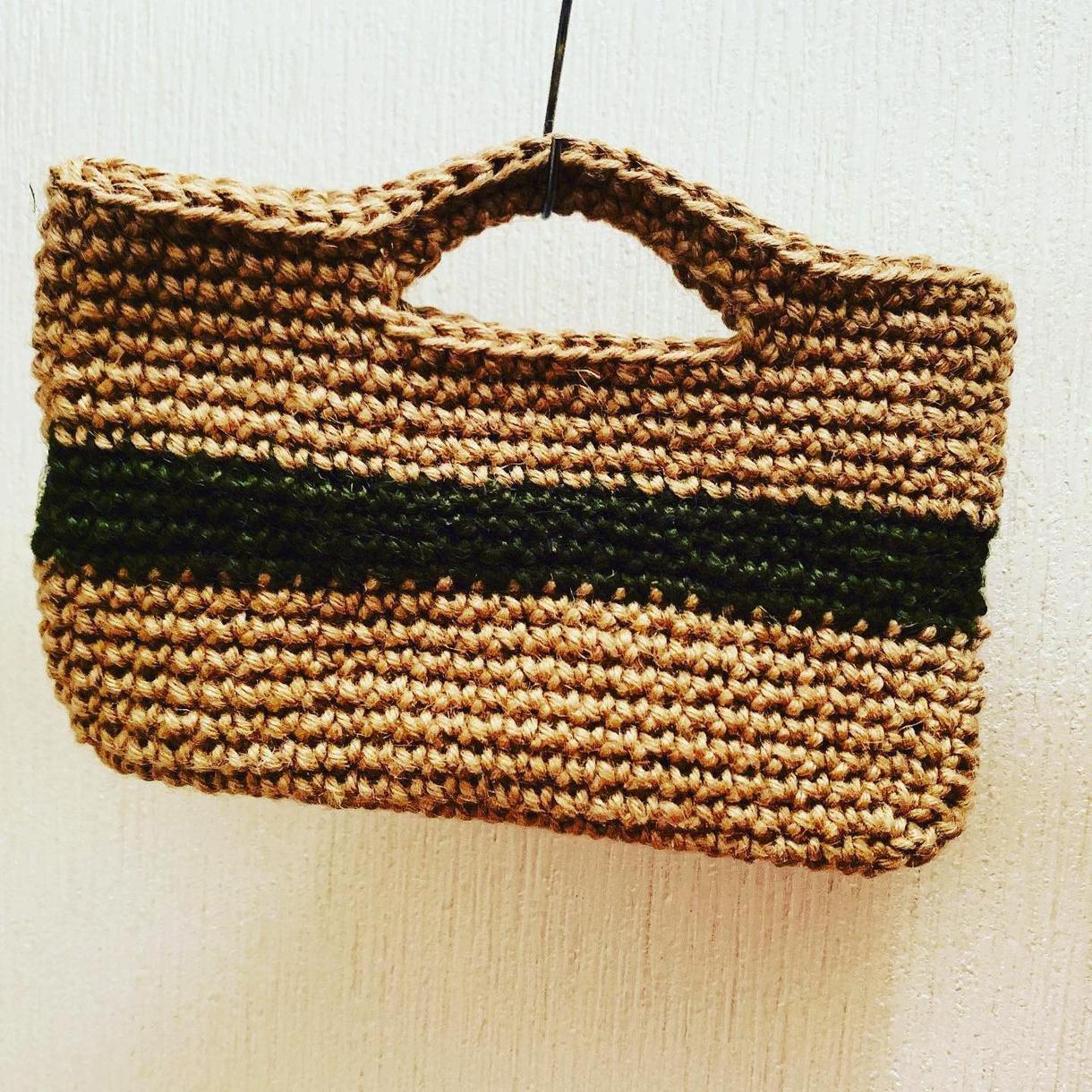 あなたにぴったりのバッグ作ります 麻ひもで作っております。お友達のプレゼントや自分にどうぞ!!