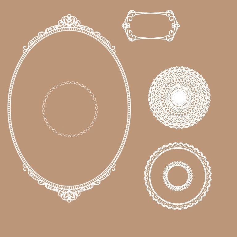 手描き風のレース素材などオリジナルで制作します‼︎ イメージ1