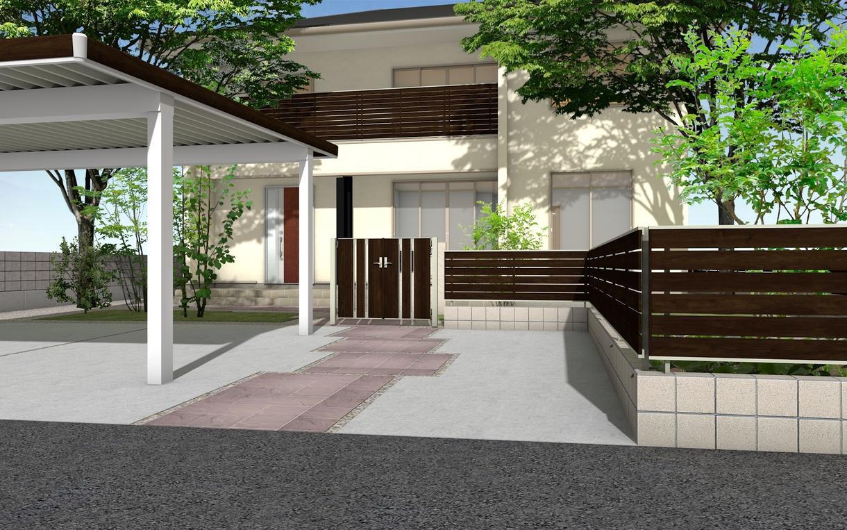 エクステリア・外構の3Dパースを描きます 新築やリフォームでエクステリア・外構のイメージをつかみたい方