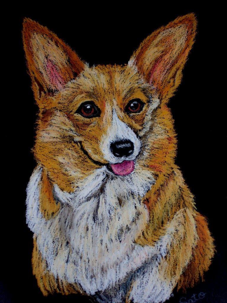 チョークアートで、ペットの似顔絵を描きます どんな生き物もチョークアートで可愛いインテリアに!