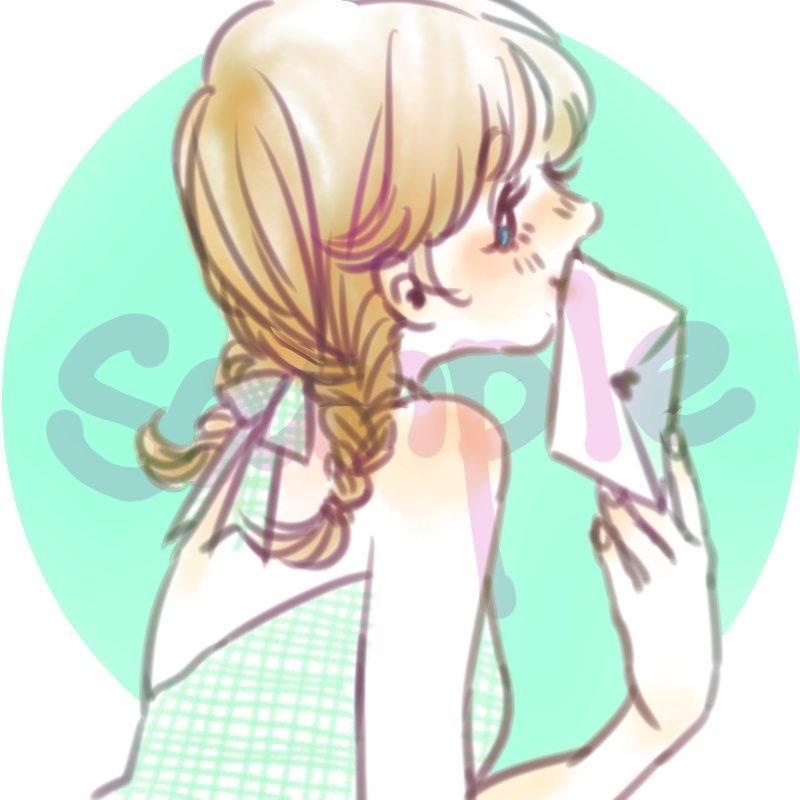 SNS向け♪かわいい女の子のアイコン描きます ほんわか可愛らしい雰囲気のイラストが好きなあなたへ
