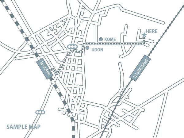 ミニマルな地図作成致します 手書き、googlemapから簡単地図作成致します