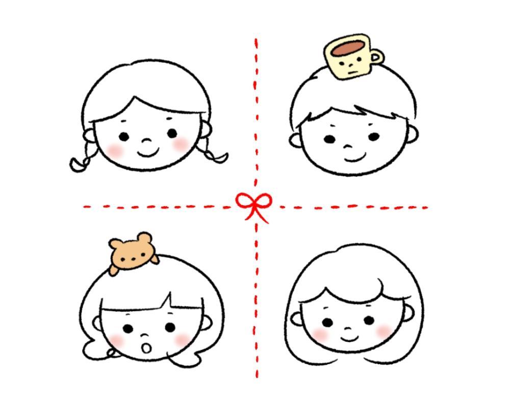 ゆるかわにやさしさ+の似顔絵描きます かわいくてやさしいアイコンをお探しのあなたに(#^.^#)♡ イメージ1