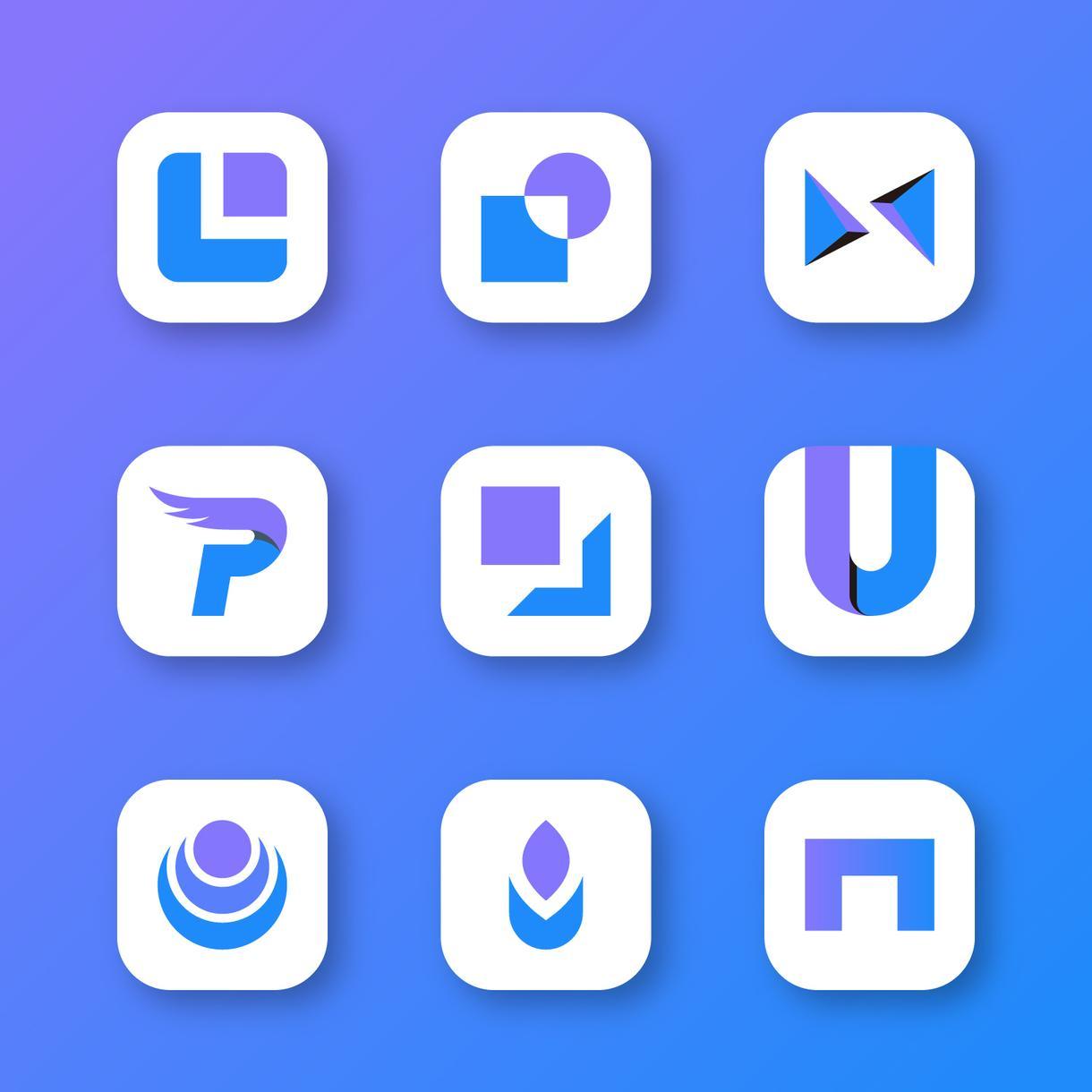 フラットデザインに特化したロゴを制作します サービス開設記念価格!アプリロゴやITベンチャー企業向け! イメージ1