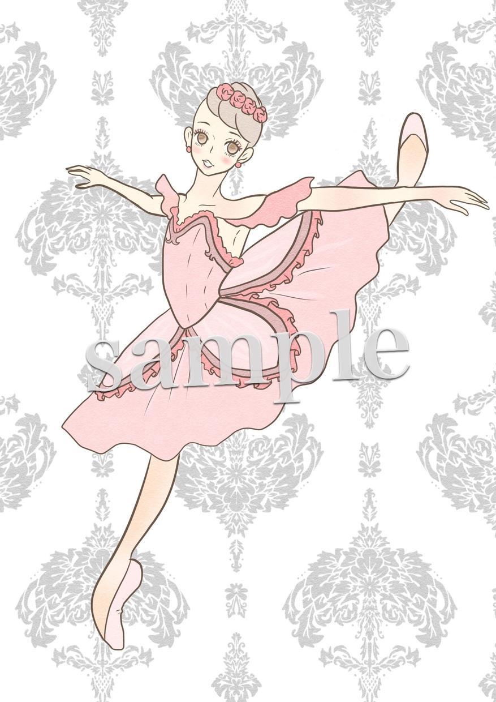 クラシックバレエのイラストお描きいたします クラシックバレエのポーズイラストをお求めの方へ
