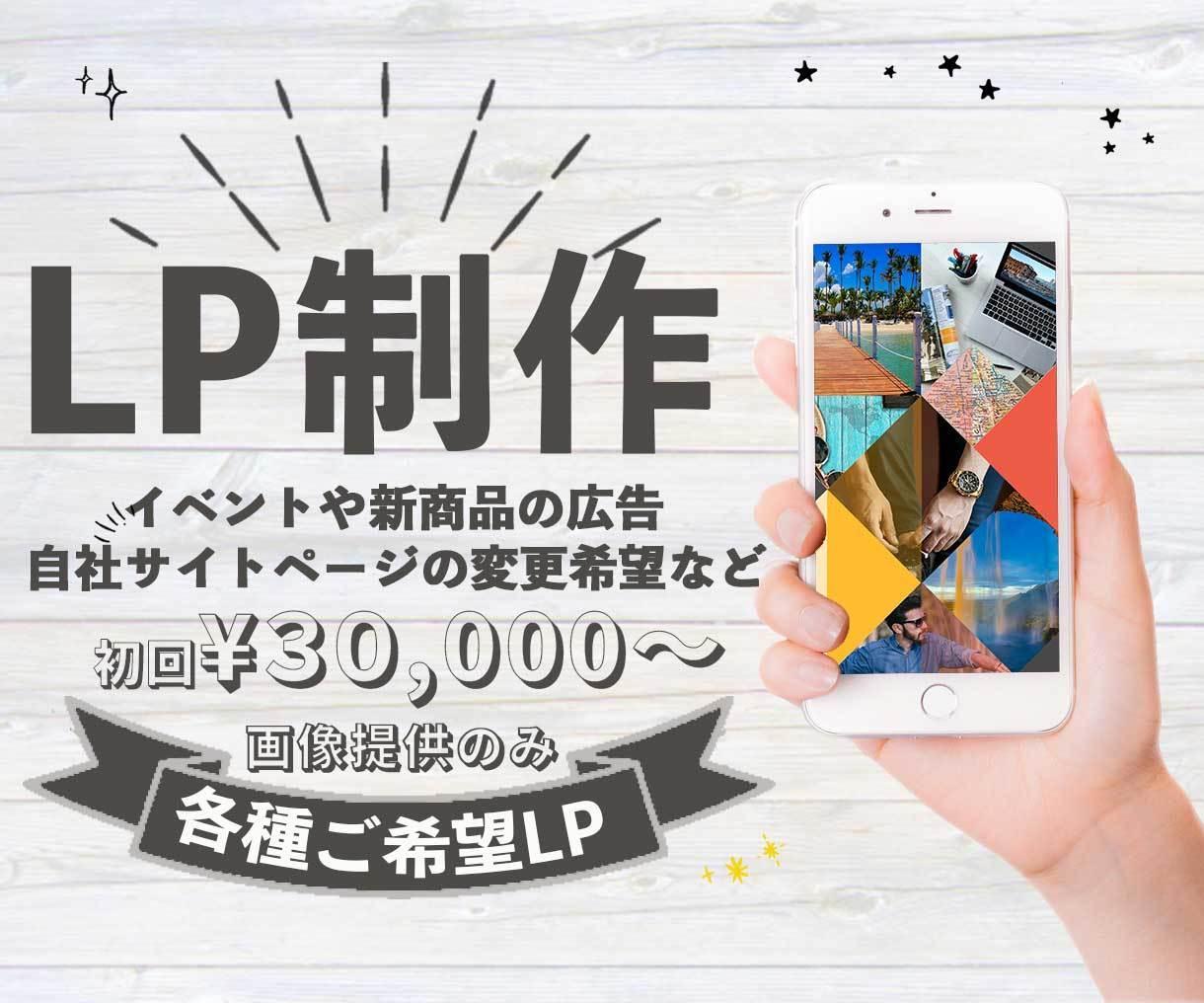 初回¥30,000〜LP用画像制作致します POPなものからシンプルなものまで目を引くデザイン作り♡ イメージ1