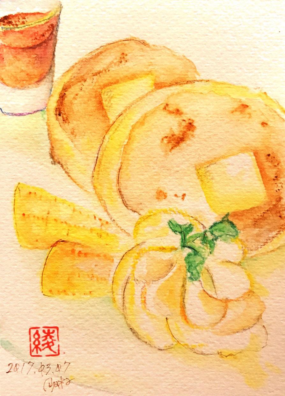食べ物のイラスト(水彩色鉛筆)描きます 喫茶店メニューのワンポイントにオススメ!