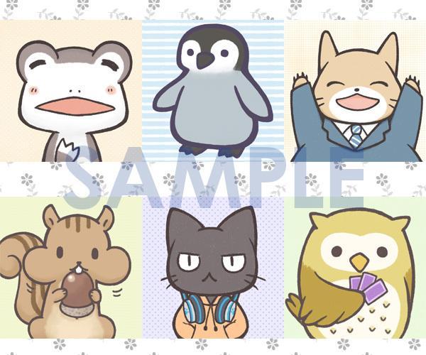 ゆるくて可愛い動物イラストをお描きします ブログヘッダー他Web用などサイズフリー!商用利用も対応!