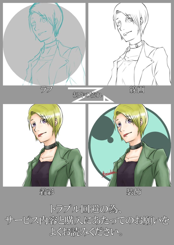 アイコンお描きします オリジナルその他対応いたします。