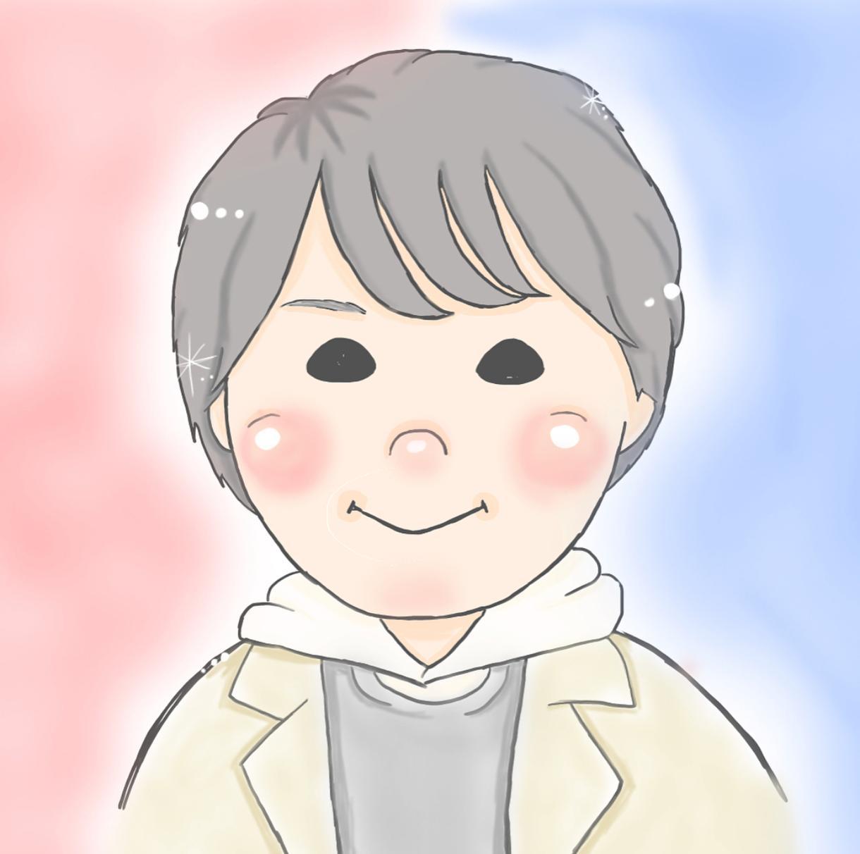 パステルカラーで可愛いキャラクター風似顔絵描きます アイコンなどにおすすめです!♡ペットもオッケーです☺︎
