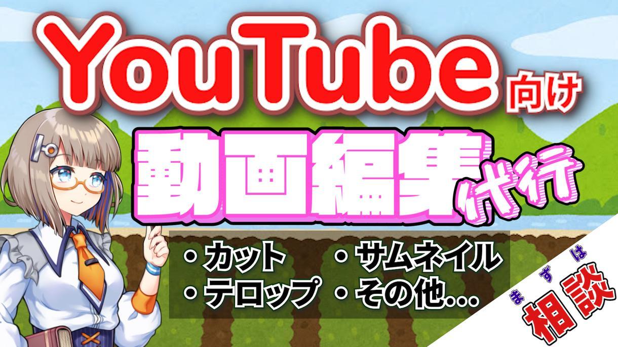 低価格でYouTube動画編集代行します 3月末までの低価格。あなたの動画をYouTubeへ