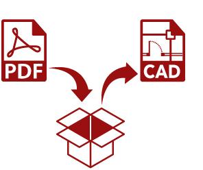 PDFからDXFデータに変換します 円弧等はスプラインとなってしまいますが一から書くより良い!
