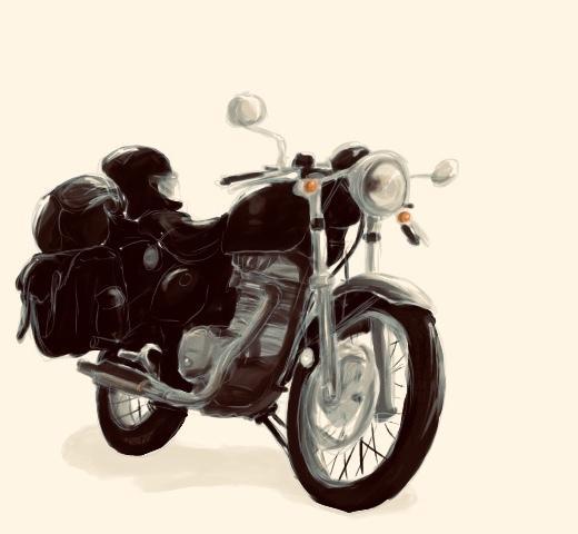 お客様のバイク写真をイラスト化いたします 素敵なバイクをお見せください!イラスト化させていただきます♪