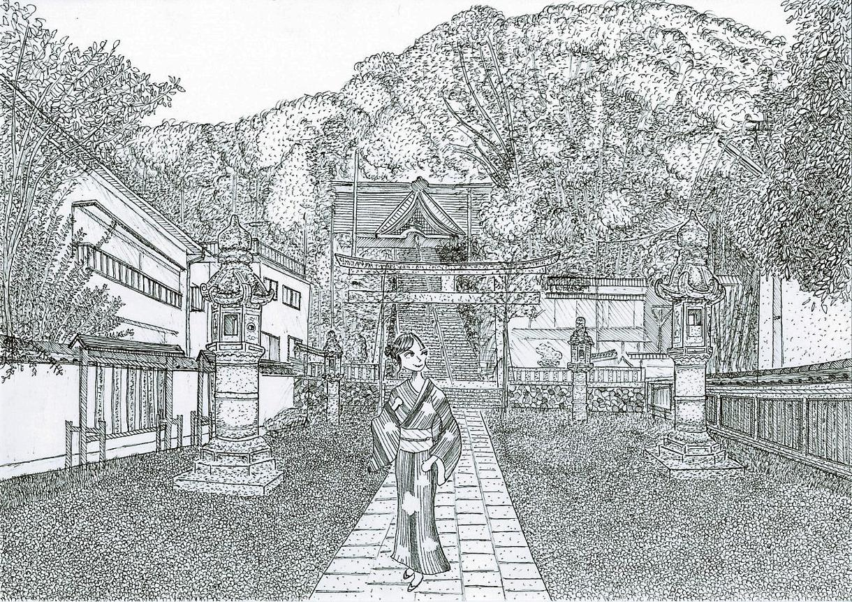ペン画で細密な風景画を描きます 市販されていない、あなただけのお気に入りの風景