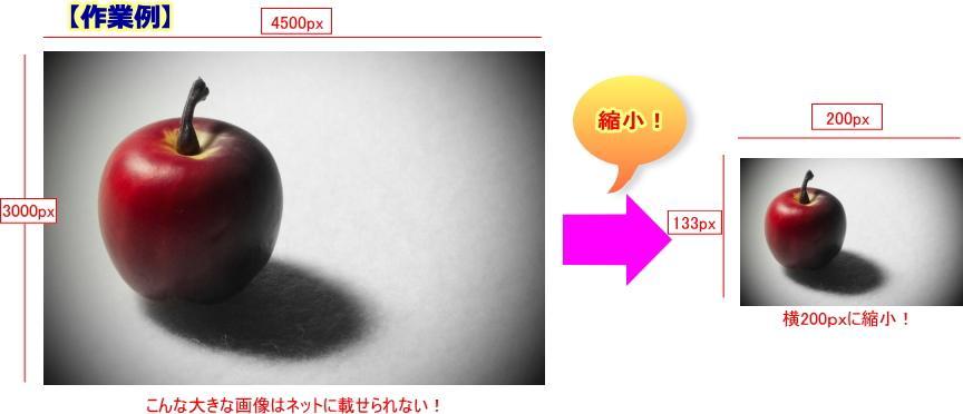 【縮小専門】通販用、ブログ用など画像の縮小作業おまかせください!
