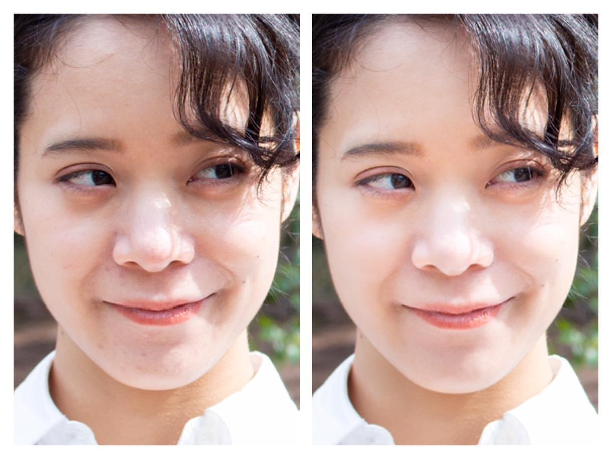 写真のレタッチ、加工、お手伝いします キレイに、自然に、写真に写った肌を補正します イメージ1