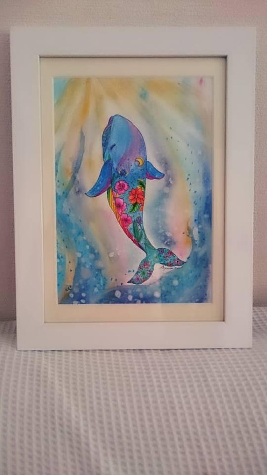 あなたを癒す、あなただけのクジラを描きます 不安、イライラから解放してくれるクジラの癒しが救います イメージ1