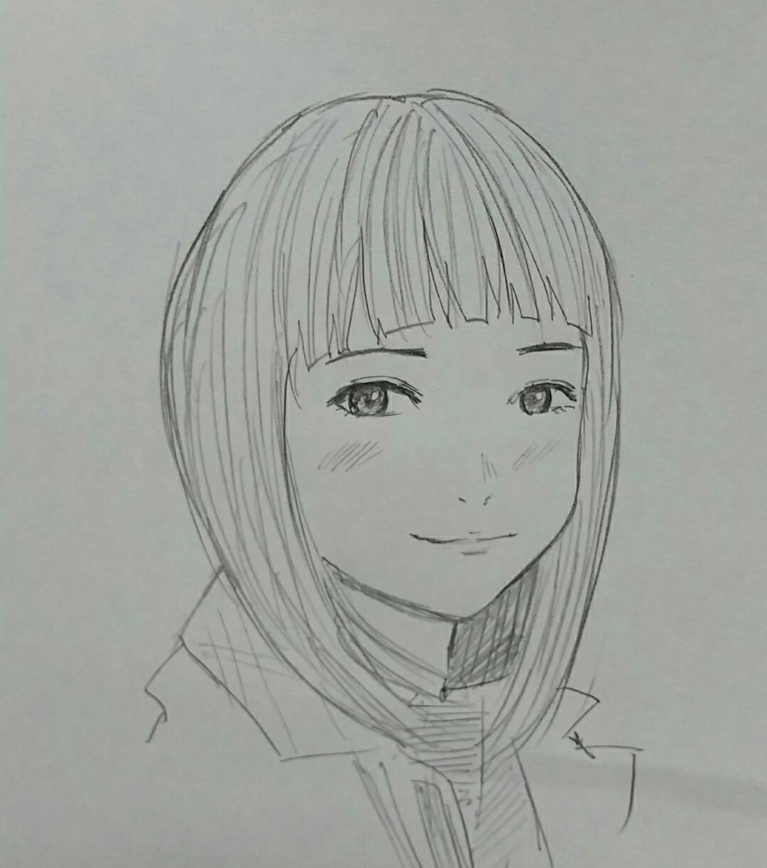 シャーペンで似顔絵描きます 1つ1つ丁寧に作業することを心掛けます
