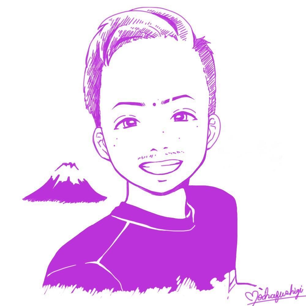 シンプルな似顔絵【お試し期間】描きます 似顔絵を線のみで!SNSのアイコンや名刺などにピッタリ イメージ1