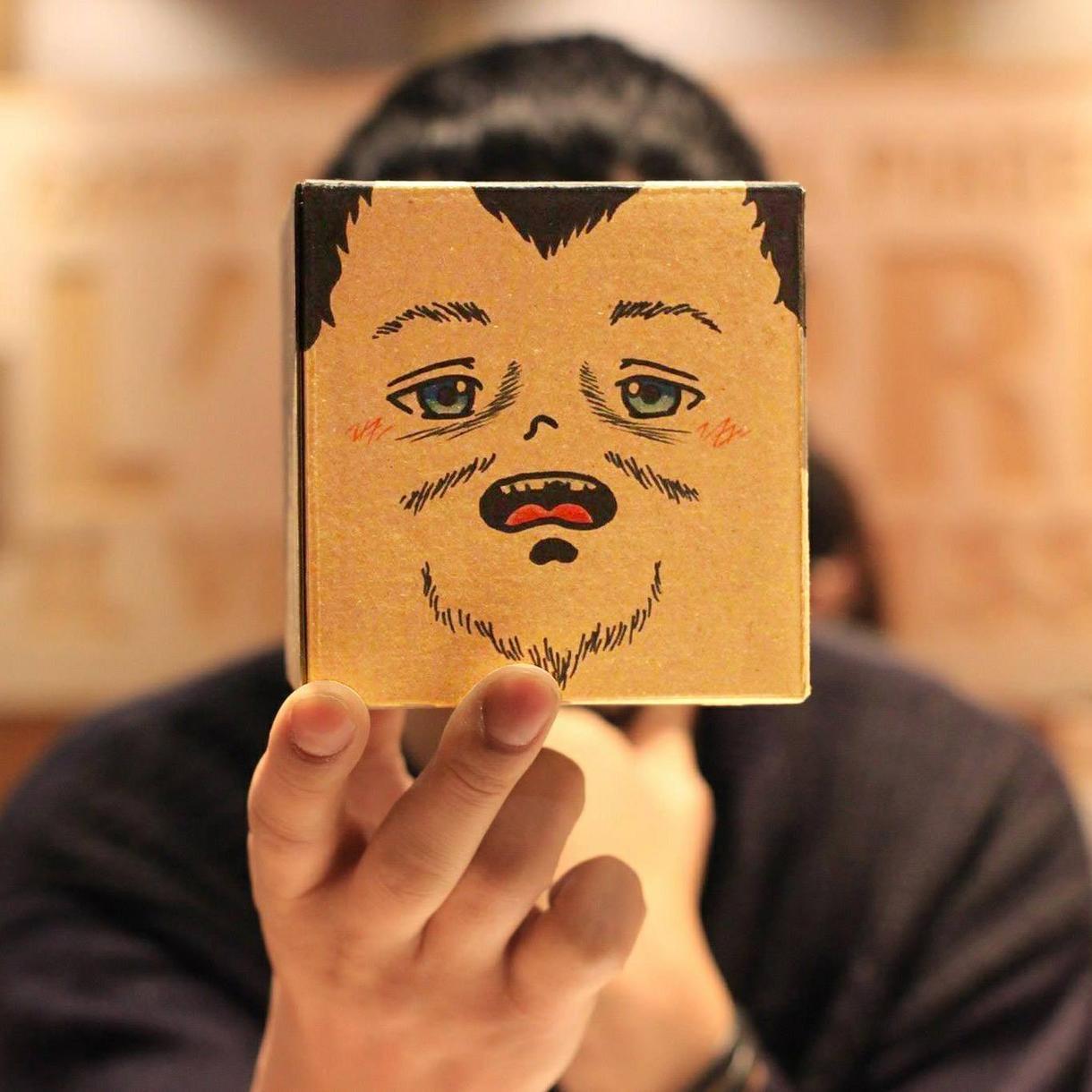 シュールでかわいいオリジナル箱型似顔絵を作成します ※お試し価格実施中!※SNSなどのプロフィールアイコンに