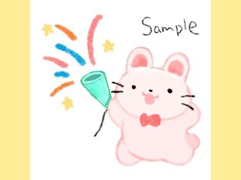なにかしているかわいい動物のイラスト描きます web、ブログなどの挿絵、アイコンなどに!