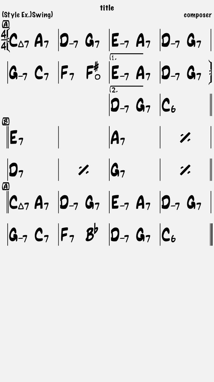コード譜を作成します 絶対音感持ちが、音源から耳コピでコード譜を作成します イメージ1