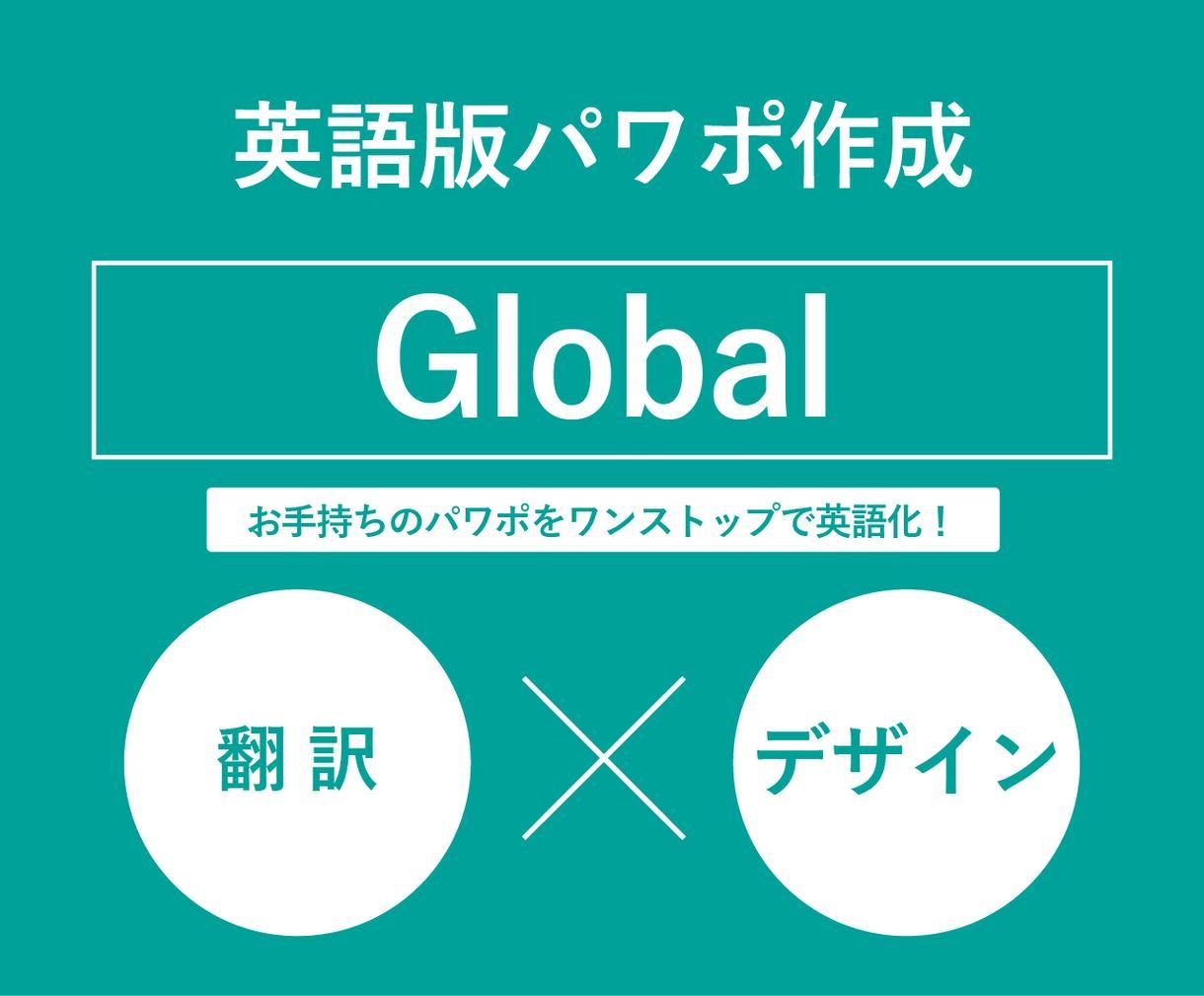 お手持ちのパワーポイント資料を翻訳、英語化します 英語版パワーポイント資料の作成! イメージ1