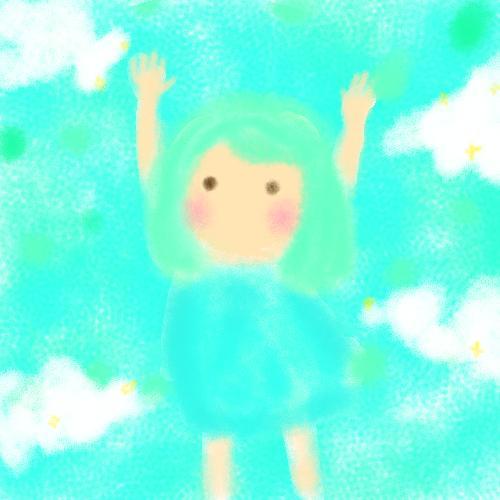 色でイメージし、【イラスト】【アイコン】描きます 挿絵・絵本・天使のような世界観に。