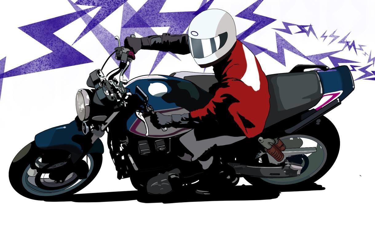 貴方の愛車、オートバイのイラストを描きます プレゼントや、記念にいかがですか。ツーリングイベントにも。
