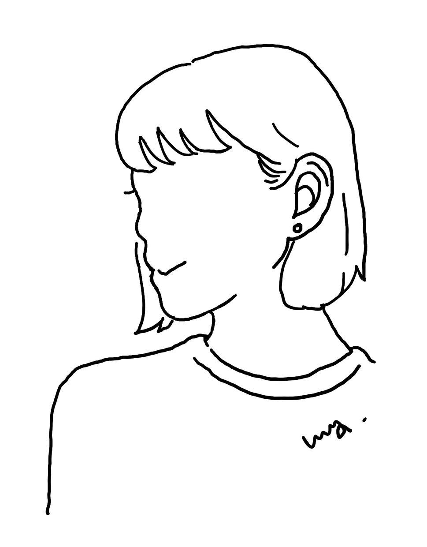 ちょっとおしゃれで、シンプルな似顔絵承ります SNSに写真はちょっと…でも雰囲気は伝えたい!という方に。