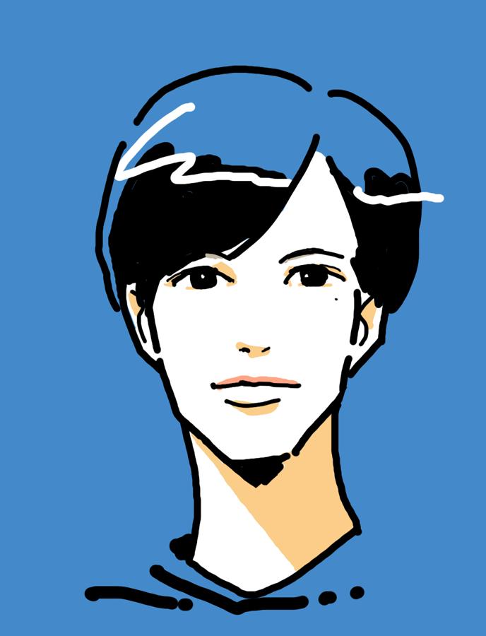 シンプルでポップ似顔絵をお描きします シンプルな線で可愛らしさのある似顔絵を作成致します!