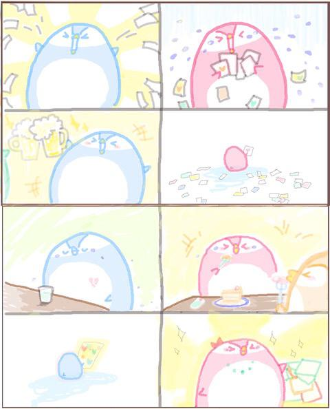 ぷちコマ漫画お描きします!【オリジナル*72dpi*印刷用応相談】