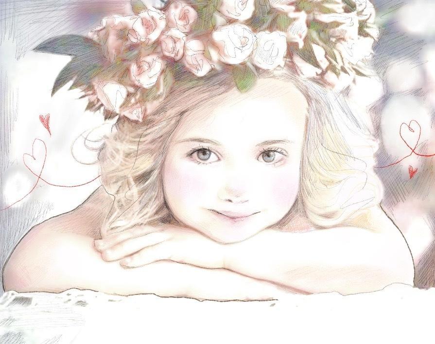 リアルな似顔絵をオシャレに描きます 特別な瞬間も。何気ない思い出も。