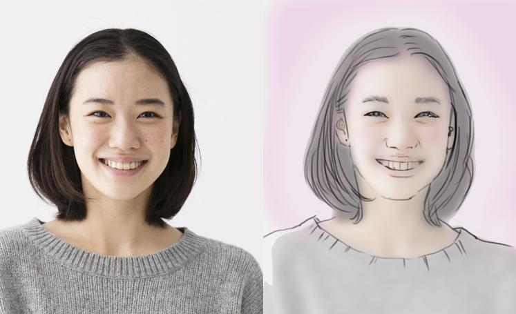 写真をもとにふんわりした雰囲気の似顔絵描きます 【即日対応可能★】写真をもとに描きます。 イメージ1
