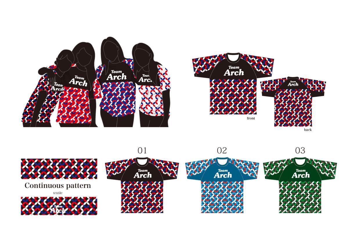 チームTシャツをデザインします 幾何学模様②(ベースデザイン) イメージ1