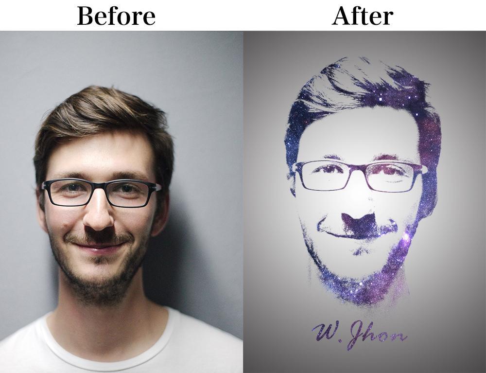 あなたの画像をカッコ良いイラスト、似顔絵加工します 画像をおしゃれに!キラキラアイコンに!似顔絵としても!
