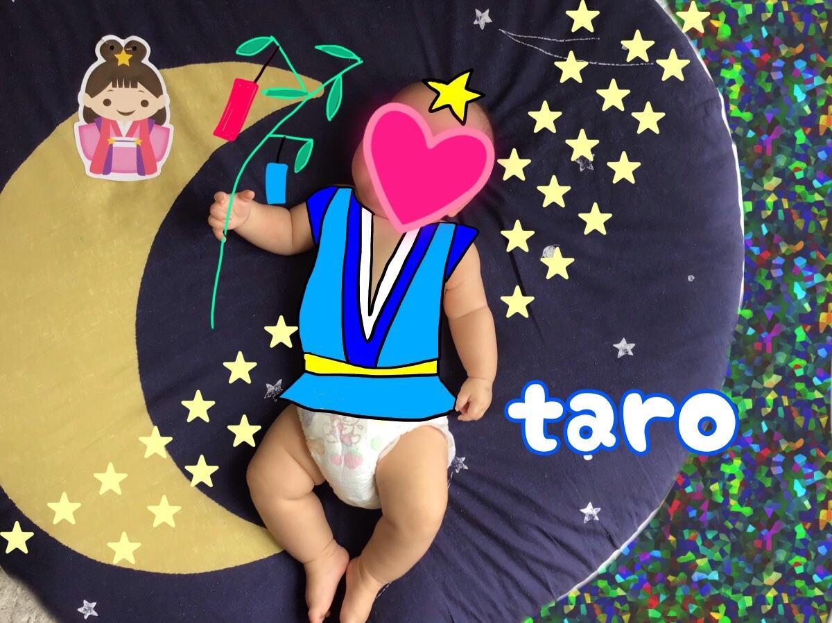 お子様の写真にイラスト加工します 面白い、かわいい月齢フォトやお子様の画像を作成しませんか?