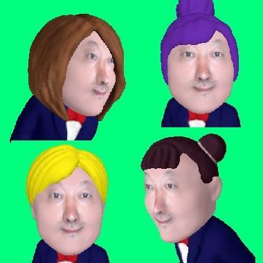 貴方の写真でキャラクター画像をデジタルで作成します 最先端3Dにて表情変換を計算して作成します。