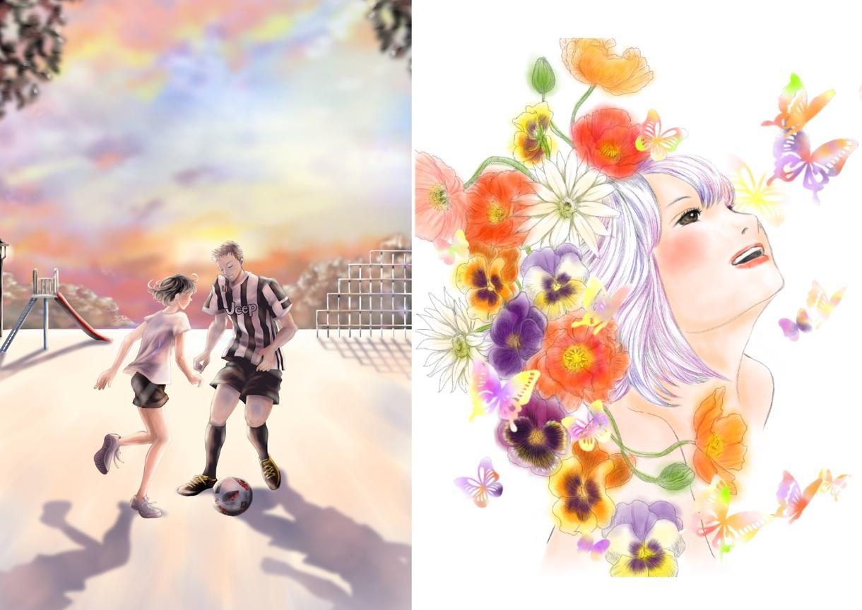 イメージに合わせた色々なイラストお描きします 商用利用OK☆チラシ・パンフ等の挿絵に!