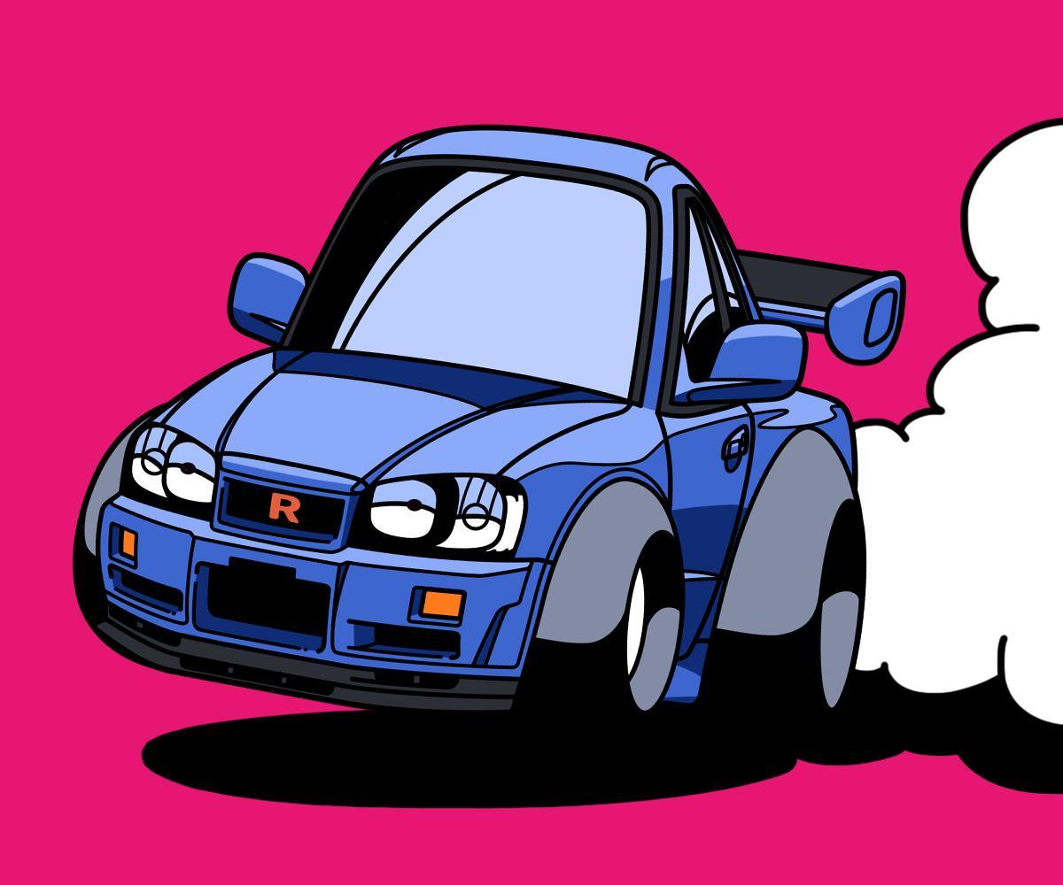 あなたの愛車、デフォルメイラストにします こだわりの詰まった車を可愛くポップにとことん再現! イメージ1