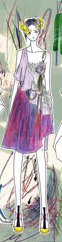 女の子のオリジナルファッションイラスト描きます ファッションデザイナーが描く★お好みのファッションイラスト