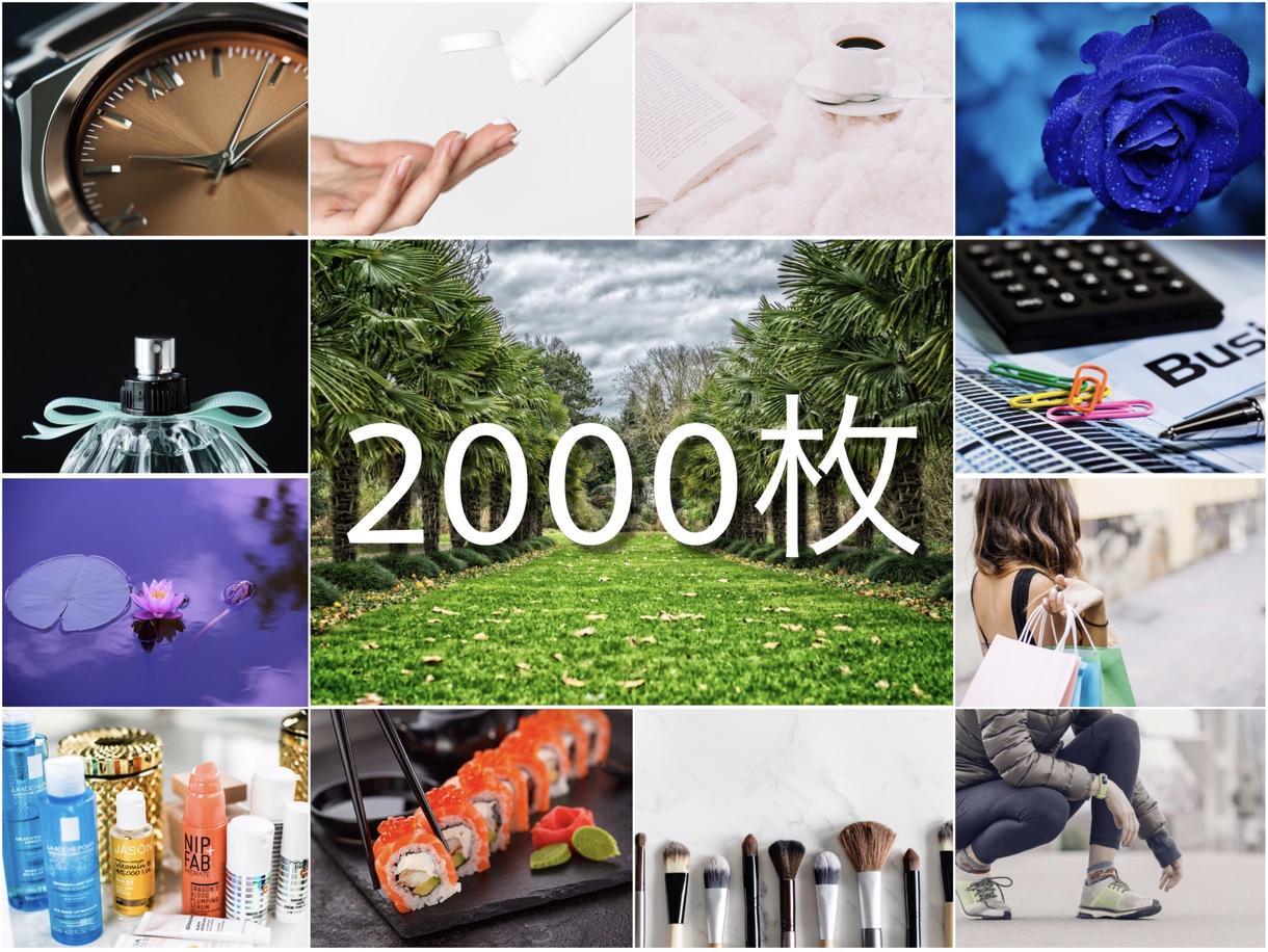 2000枚の高品質著作権フリー画像をお渡しします 【商用利用可能】ジャンル問わず大量のフリー素材を即日お届け!