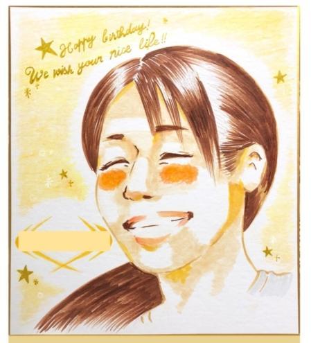 やわらかいタッチのニッコリ似顔絵♡を作成します 似顔絵のプレゼントで特別な思い出を♡